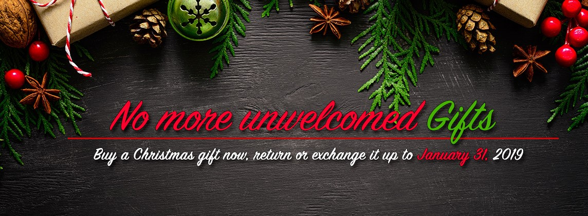 No more unwelcomed Christmas gifts