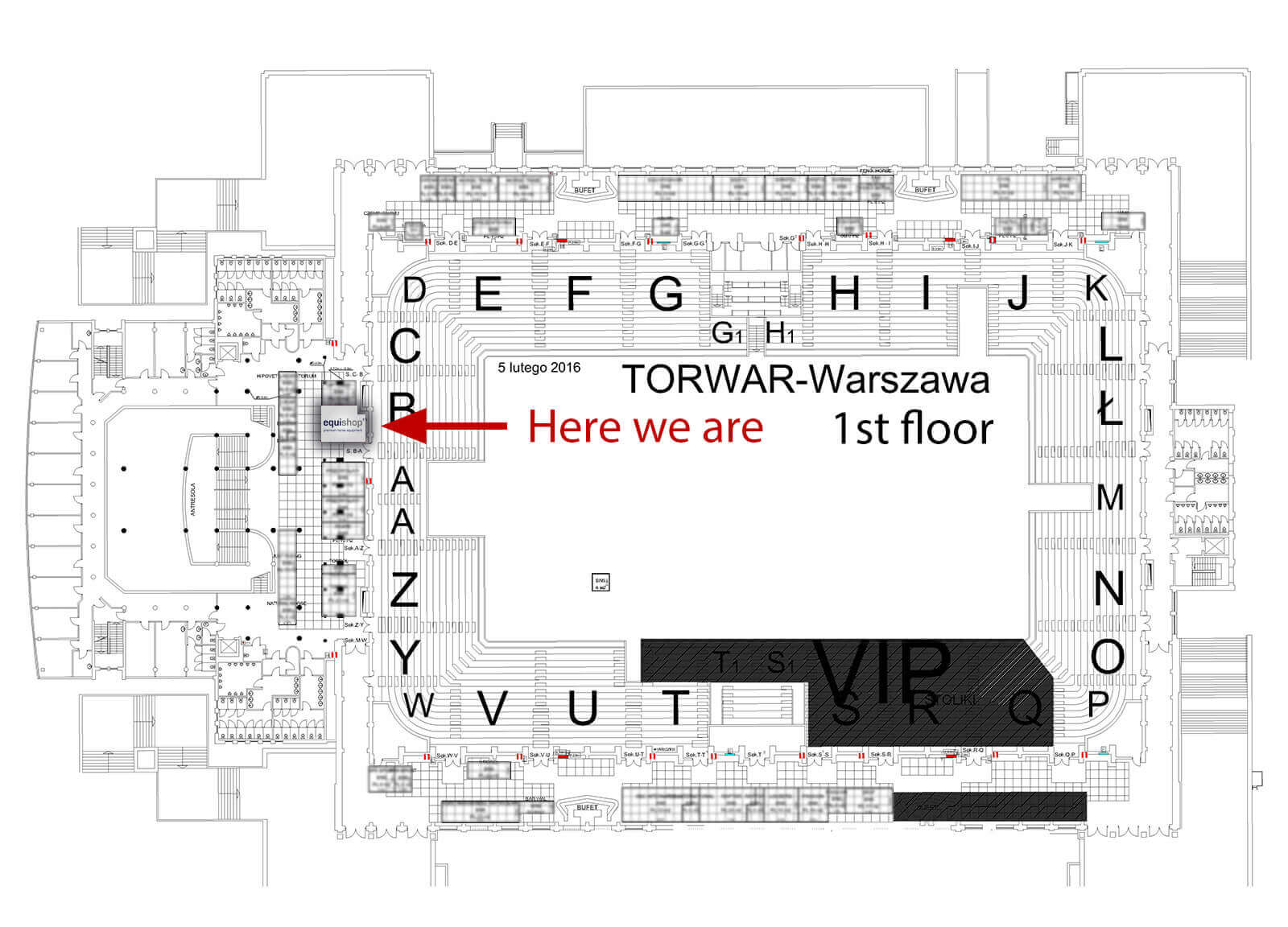 1st floor map at Cavaliada Warsaw 2016